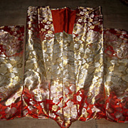 Elaborate Japanese Silk Wedding Kimono
