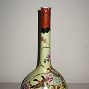 Japanese Porcelain Kutani Bottle Vase