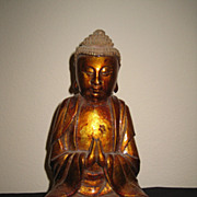 Antique Gold Lacquer Seated Buddha