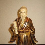 Small Chinese Gilt Lacquer Scholar