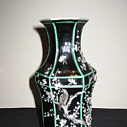 19th Century Chinese Famille Noir Vase