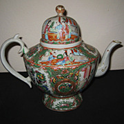 Chinese Porcelain Mandarin Rose Tea Pot