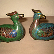 Pair of Chinese Cloisonn� Ducks