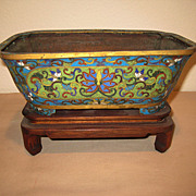 Antique Chinese Cloisonn Censor