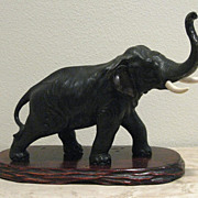 Superb Meiji Period Japanese Bronze Elephant