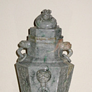 Chinese Jadeite Archaic-style Vase