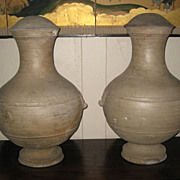 Chinese Han Dynasty Grey Pottery Jars