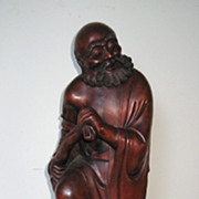 Chinese Carved Tall Wood Immortal