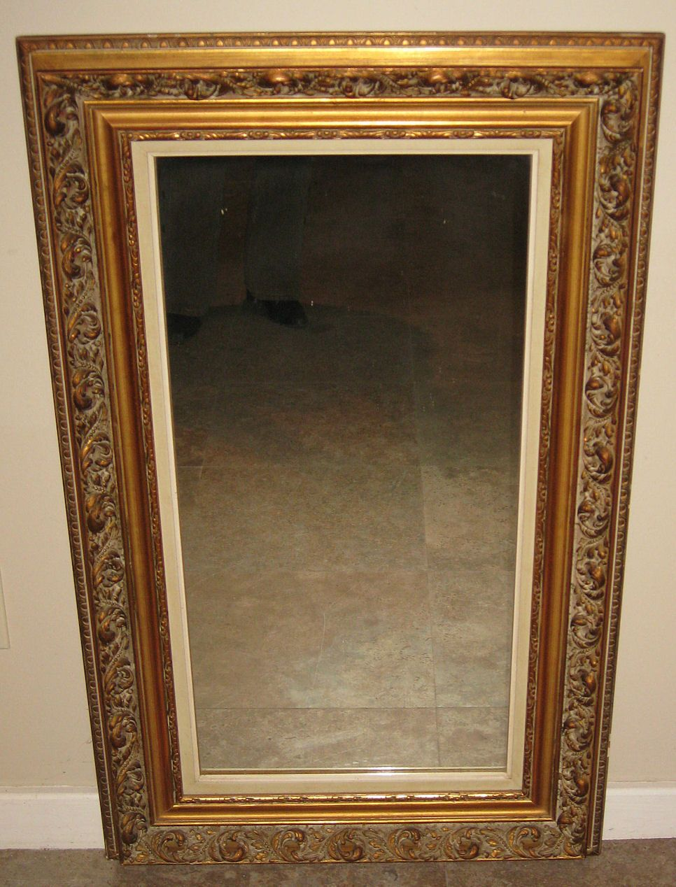 superb parcel gilt wood framed mirror from