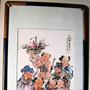 Superb Chinese Painting of �Eight Immortals� Ba Xian