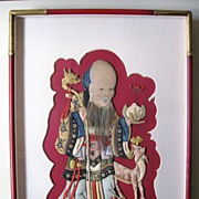 Silk Appliqu� of Shou-Lao, God of Longevity