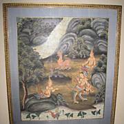 Thai Painting of Deities & Mythical Beasts