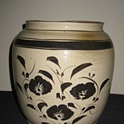19th C. Chinese Pottery Cizhou Glazed Jar