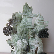 "Chinese Carved ""Honan jade"" Mountain"