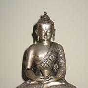 Superb Nepalese Silver Seated Buddha