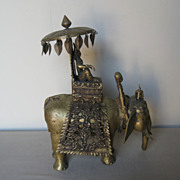Nepalese Bronze Elephant with Maitreya