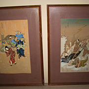 Pair of Japanese Woodblock Prints
