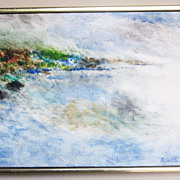 Oil Painting Abstract Coastal Scene by Pollack