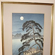Japanese Woodblock print of a �Moonlit Night�