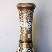 Exquisitely Painted Satsuma Pottery Vase by Jiuzan