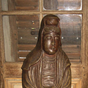 Late Meiji Japanese Pottery Kannon