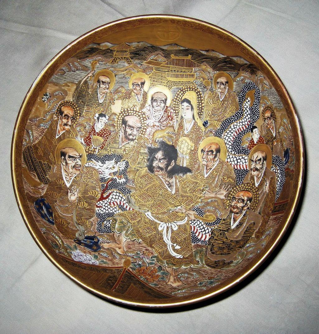 Hand Painted Royal Satsuma Plate