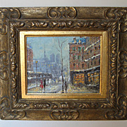 Oil Painting by W. Vanici of a �Winter Scene�