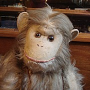 Antique wonderful large Monkey ca. 1910 probably Steiff