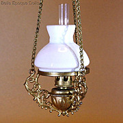 Antique Dolls House hanging Kerosene Lamp - By F.W.GERLACH