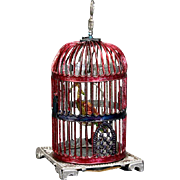 Antique Bird Cage with Rare Paradise Bird - By Babette Schweizer