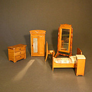 Antique Art Nouveau Bedroom for your Dollhouse