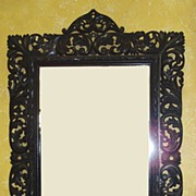 Austrian Baroque Pierced-Framed Mirror