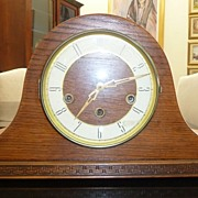 Wooden Case Napoleon Hat Mantle Clock