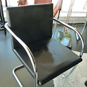 Late Mid-Century Brno Style Black Modern Chair
