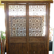 Chinese Teak Garden Gate