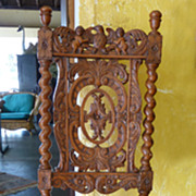 Highly Carved Barley Twist Renaissance Revival Side Chair