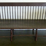American Antique Windsor Settle Bench, ca 1810-1820