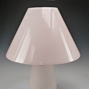 Murano Glass Table Lamp by AV Mazzega in Soft Pink
