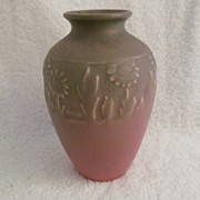 Rookwood Pottery Vase 1924 Matte Finish Daisey Pattern