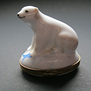 Polar Bear Limoges Box Artist Signed