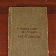 RARE Locomotive Engineer Fireman Instruction Book Early 1900s Erie PA RR
