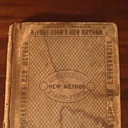 Antique 1859 Piano Book Richardson's New Method Piano-Forte Diston Boston Music