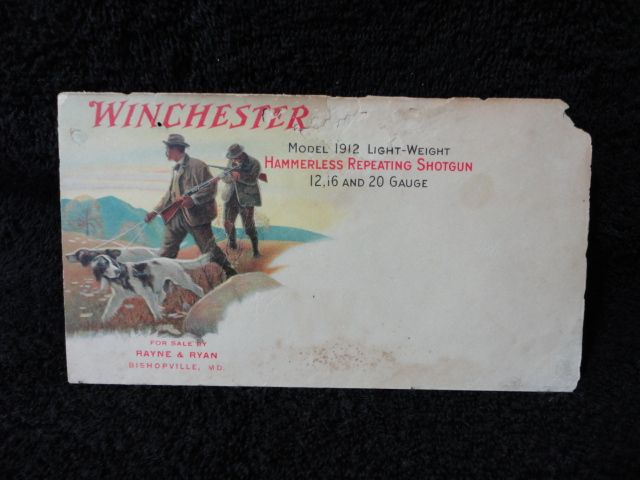 rare old winchester red W envelope