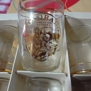 1959 Set of Coors Glasses in Rush to Rockies Centennial