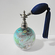 Antique Hand Painted Perfume Atomizer Bottle