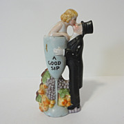 "German Schafer and Vater Liquor Flask ""A Good Sip"""