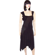 Cynthia Cynthia Steffe-Contemporary Black Dress with Handkerchief Hem