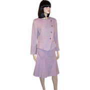 Max Mara-Lovely Lilac Linen & Wool Springtime Suit