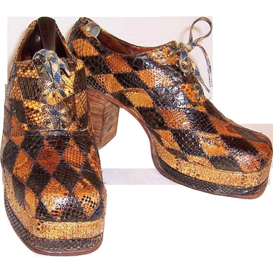 s 1970 s original glam rock band snakeskin platform