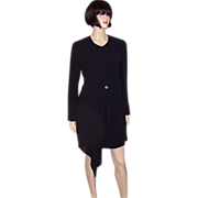 Donna Karan Black Jacket with Attached Skirt